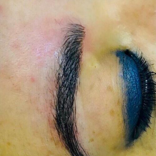 Completed microblading
